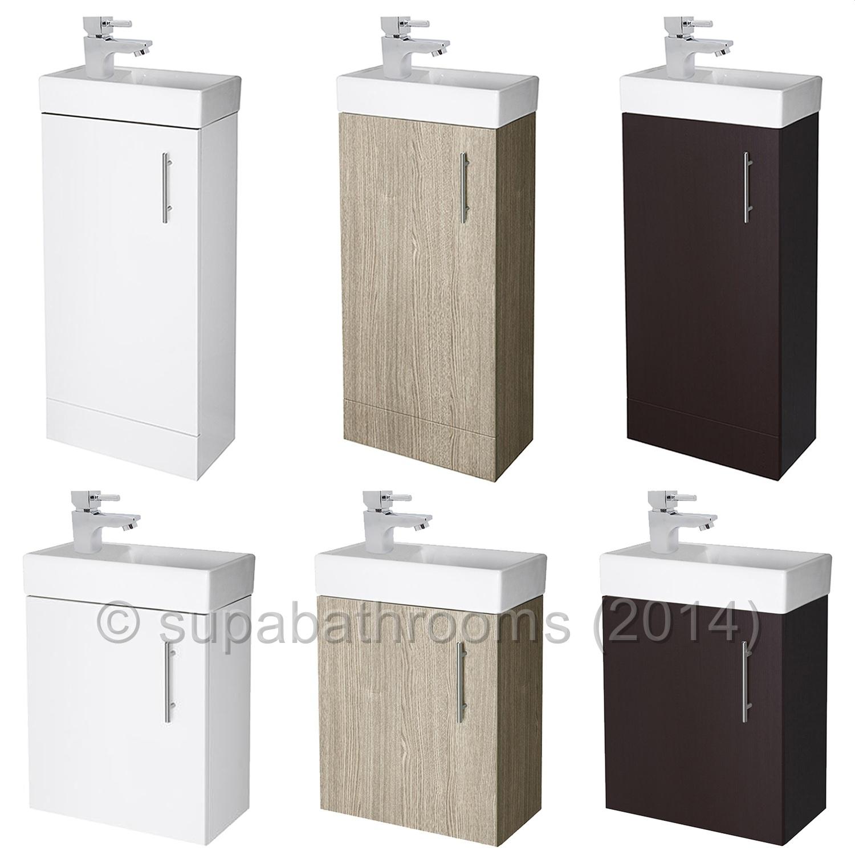 Floor Standing Bath Shower Mixer Bathroom 400mm Minimalist Compact Vanity Unit Amp Basin Ebay